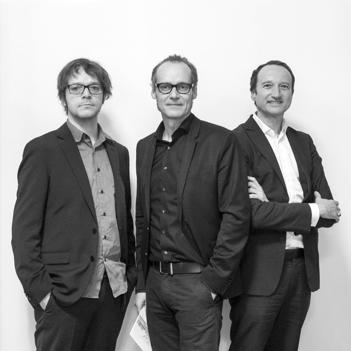 Florian Heilmeyer, Ulrich Müller, Oliver Elser. Foto: Till Budde